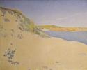 Песчаный берег моря в Сен-Бриаке