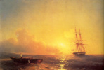 Ivan Aivazovsky. Fishermen on the seashore