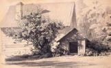 Луиджи Премацци. Деревянный дом с собачьей конурой и кустом сирени