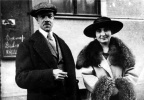 Photo with his wife Anna