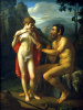 Faun Marsyas teaches young Olympia to play the flute