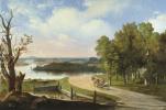 Пейзаж з рекой и дорогой