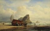 Alexey Petrovich Bogolyubov. Scene on the coast, Brittany