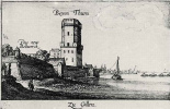 Венцель Холлар. Вид на башню Байерн