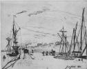 Вид гавани Онфлёра с железной дорогой