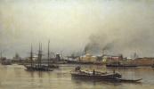 Александр Карлович Беггров. Набережная Невы. 1876