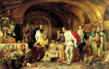 Ivan the terrible shows his treasures to the English Ambassador Horsey