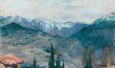 Николай Александрович Ярошенко. Горный пейзаж. Осень в горах.