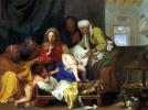 Святое семейство со спящим младенцем Иисусом