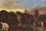 Адам Эльсхаймер. Пейзаж с купающимися нимфами