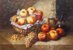 Савелий Камский. Натюрморт с вином и виноградом