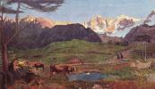 Alpine triptych. Nature