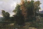 Фёдор Александрович Васильев. Вечер (Пейзаж с водяной мельницей. Перед грозой)