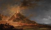 Пьер-Жак Волер Франция. View of the eruption of Vesuvius from Atrio del Cavallo on May 14, 1771.