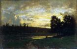 Теодор Руссо. Пейзаж с закатом
