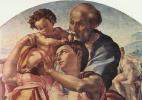 Микеланджело Буонарроти. Святое семейство, тондо, деталь