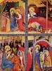 Алтарь Страстей Христовых. Вильдунгенский алтарь, левая створка: Благовещение, Рождество, Поклонение волхвов