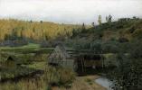 Isaac Levitan. Autumn. Mill. Ples