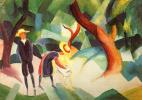 Август Маке. В лесу