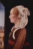 Portrait of Ginevra Sforza, wife of Giovanni Bentivoglio. Diptych Bentivoglio, fragment