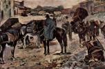 Джованни Фаттори. Крестьяне, ослы и торговцы на просёлочной дороге