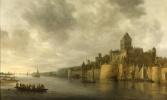 Ян ван Гойен. Вид с северо-запада на замок Валькхоф в Неймегене