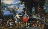 Франс Франкен Младший. Аллегория воздуха и огня. Около 1630 (совм с мастерской Яна Брейгеля Мл)
