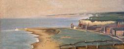 Ева Гонсалес. Вид пляжа  Дьепп  со скалы Запада