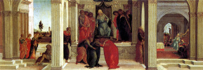 Filippino Lippi. Three scenes from the Story of Esther
