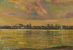Исаак Израилевич Бродский. Вид на город с берега реки