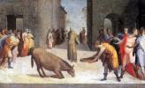 Доменико Беккафуми. Святой Антоний и чудо с мулом
