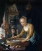 Девушка, режущая лук