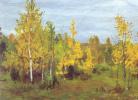 Осенний пейзаж. Золотые березки