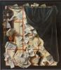 Тромплёй Доска с письмами и нотной тетрадью, отгороженная завесой