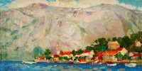 Adriatic 30x60 oil on canvas