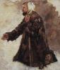 "Beggar kneeling. A sketch for the painting ""Boyarynya Morozova"""