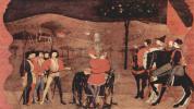 Легенда о причастии. Еврейского купца с семьей сжигают на костре