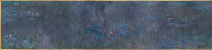 Клод Моне. Водяные лилии : отражение деревьев