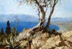 Генрих Ипполитович Семирадский. Озеро со скалистыми берегами
