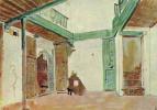 Эжен Делакруа. Внутренний двор марокканского дома