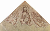 Симоне Мартини. Фрески авиньонской церкви Нотр Дам де Домс, сцена: Христос Пантократор с ангелами, фрагмент