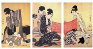 Women make dresses 1-Triptych