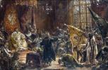 Ян Матейко. Преклонение царя Василия Шуйского перед Зигмунтом III в Варшаве. Эскиз