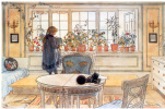 """Flowers in the living room. Watercolour from the album """"Our house"""""""