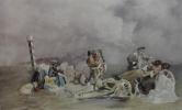 Валерий Иванович Якоби. «Привал арестантов. Эскиз» 1861  белила