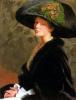 Автопортрет. Зеленая шляпа