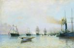 Алексей Петрович Боголюбов. Парад кораблей Балтийского флота по случаю прихода германской эскадры в 1888 году