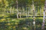 Савелий Камский. Копия картины маслом Березовая роща
