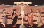 Паоло Уччелло. Распятый Христос, Мария, Иоанн Креститель, евангелист Иоанн и св. Франциск