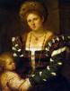 Portrait of a lady with a boy